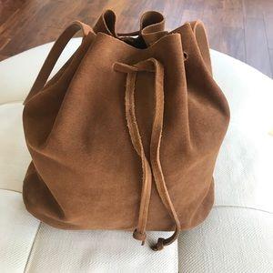 NWOT Zara Suede Leather Bucket Bag