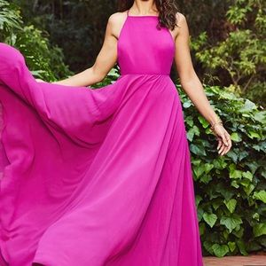 Lulu's Mythical Kind of Love Maxi Dress in Magenta