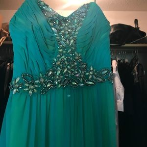Strapless Prom Dress- Worn Once!