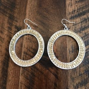 Express Gold and Silver Earrings
