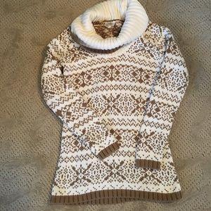 LOFT chunky snowflake sweater