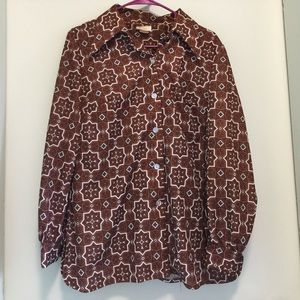 Beautifully Patterned 60s Blouse