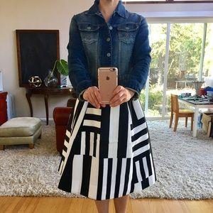 Kate Spade Multi Stripe Black and White Skirt
