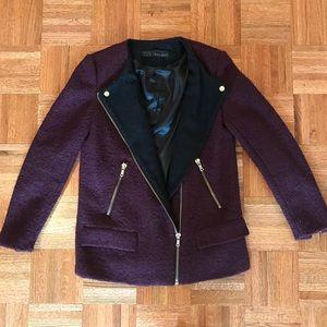 Zara Asymmetrical Purple Jacket