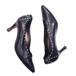 Vintage RINALDI black studded leather shoes size 7