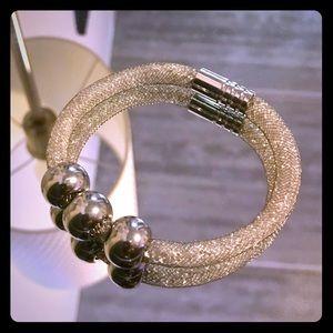 Jewelry - Beautiful Silver Bracelet with Swarovski Crystals