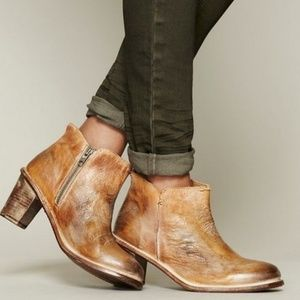 Bed stu sonic leather tan booties