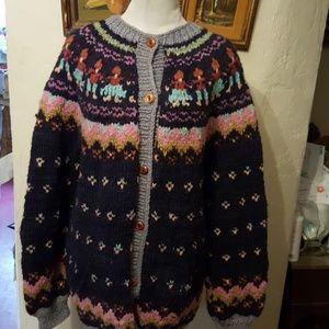 Amazing Ecuadorian vintage sweater L- 1X