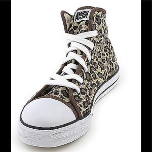 Cheetah high top sneakers size 6