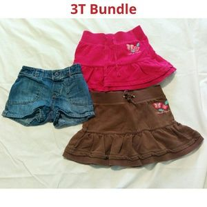 Lot of jean shorts and 2 skirts