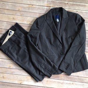 Charcoal J. Crew suit coat and pants