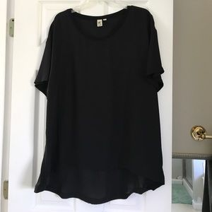 Women's Black Hi-Low Blouse