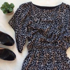 Sz L {Jessica Simpson} Leopard Print Mini Dress