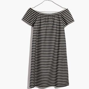 Madewell striped melody off the shoulder dress
