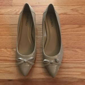 Ellen Tracy Leather Nude Pumps 7