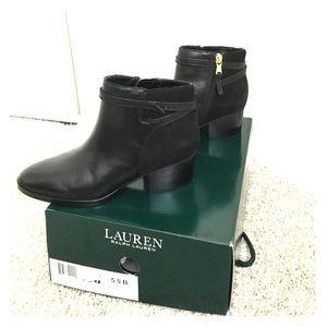 LAUREN by Ralph Lauren black ankle boots