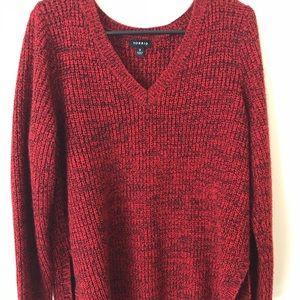 Marked Knit V-Neck Tunic with side splits
