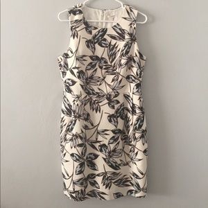 J. Crew Factory Leaf Print Dress