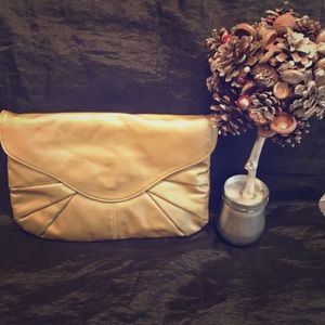 Urban Expression Gold Envelope Clutch Bag Purse