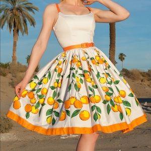 Pinup Girl Clothing Orange Jenny Dress XL PUG