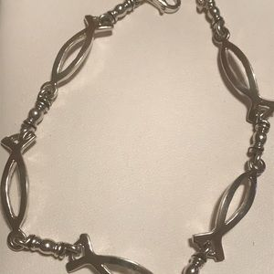 Jewelry - New sterling silver Christian fish bracelet