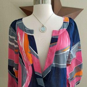 Tibi New York Cotton Tunic Dress