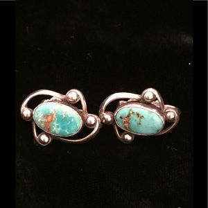 Jewelry - VINTAGE Silver and Turquoise Earrings