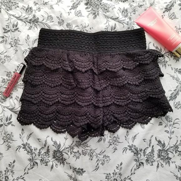 American Rag Pants - Black crochet shorts