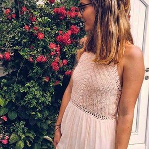 Gorgeous Crochet Peach Maxi