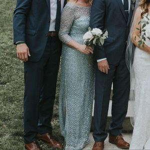 Blue Sequined Dress- mother of the bride/black tie