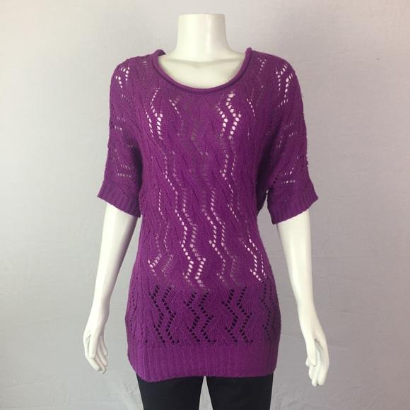 80% off Delia's Sweaters - Delia's Knit Purple Tunic Sweater Sz M ...