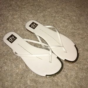 Dolce Vita Cream Flip Flops