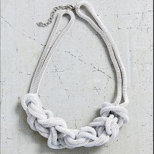 Urban outfitters knotted statement necklace