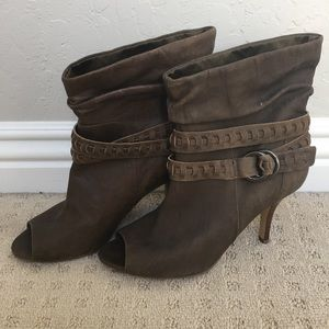 Guess Slouchy Open Toed Bootie - Size 9
