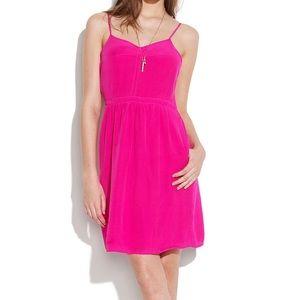 Madewell Fuschia Silk Dress