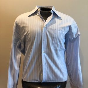 Blue Striped Nautica Button Down Sz 16