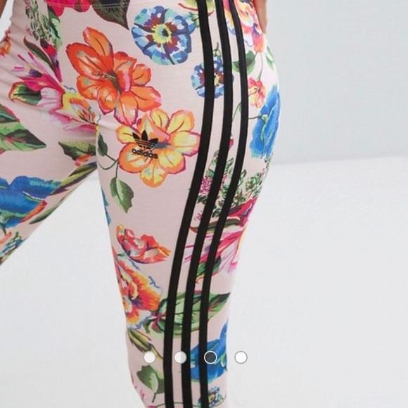 2c6fcdaf84b adidas Pants | Bnwt Floralita Leggings | Poshmark