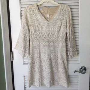 Vintage 1970's Cole of California macrame dress