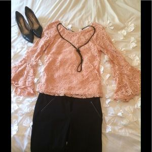 NWT - Beautiful lace Adrianna Papell Blouse