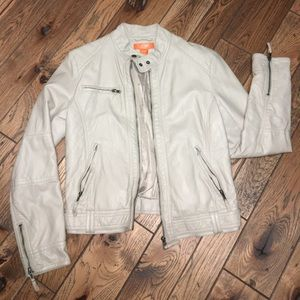 Tan Faux Leather Jacket