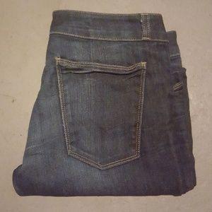 Current Elliot dark ankle zip skinny jeans