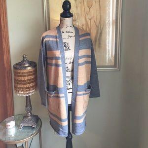 Cynthia Rowley Merino Wool striped cardigan
