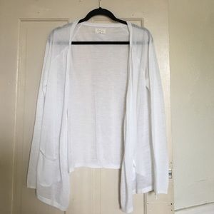 White Lightweight Cardigan