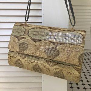 Vintage PYTHON snake handbag