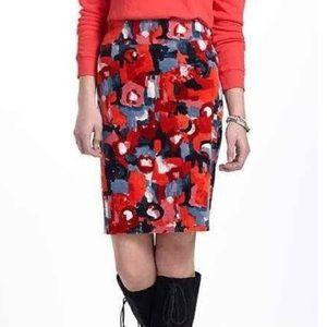 Anthropologie Vanessa Virginia Painterly Skirt New