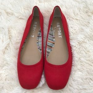 EUC Red Flat Shoes