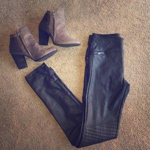 H&M Faux Leather Skinny Leggings