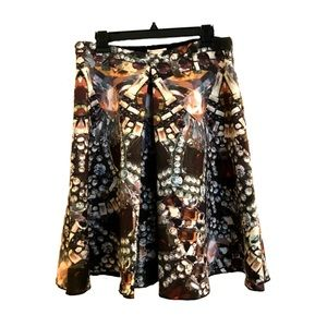 H&M scuba skirt with jewel print