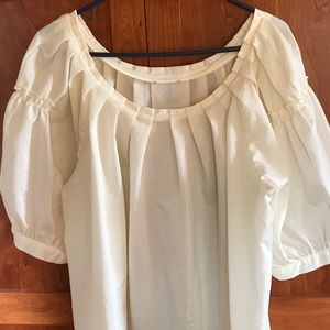 Tops - Silky Cream Colored Top