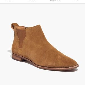 Madewell Bryce Chelsea Boot tan suede size 7